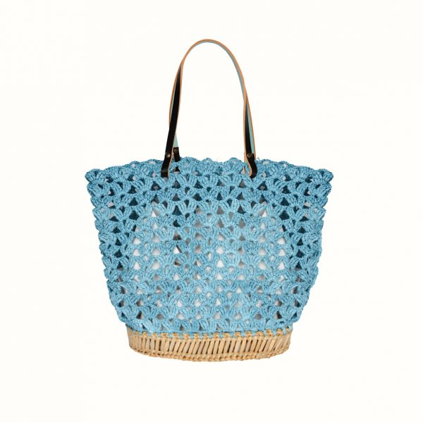 1_Basket_rafia_Crochet_with_handle_in_leather_bicolor_Black_Celeste_and_natural_RUSH_Gabriela_Vlad