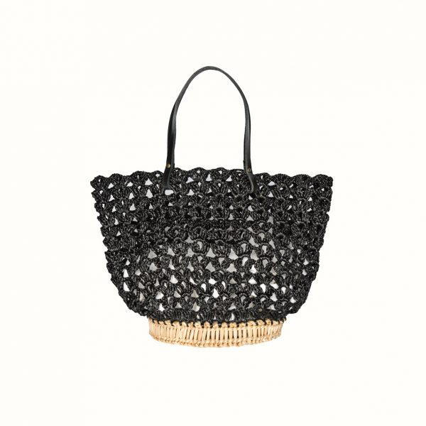 1_Basket_rafia_Crochet_with_handle_in_leather_col_Black_and_natural_RUSH_Gabriela_Vlad