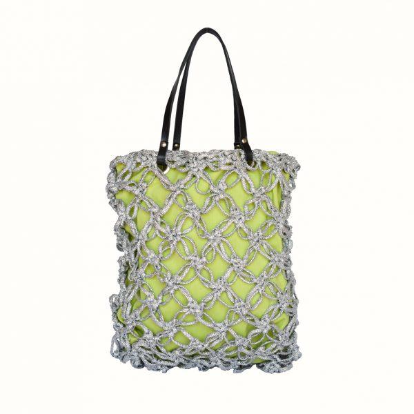 1_Shopping_in_Lurex_col_Argento_Crochet_handle_in_leather_col_Black_Gabriela_Vlad