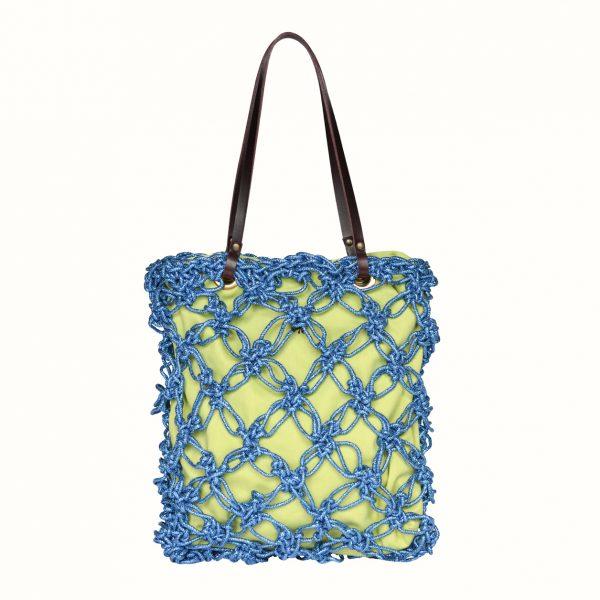 1_Shopping_in_Lurex_col_Blu _Crochet_handle_in_leather_col_Bordo_Gabriela_Vlad