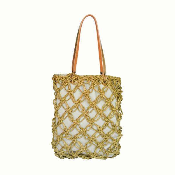 1_Shopping_in_Lurex_col_Gold_Spaghetti_Crochet_with_handle_in_leather_bicolor_Gold_Natural_Gabriela_Vlad