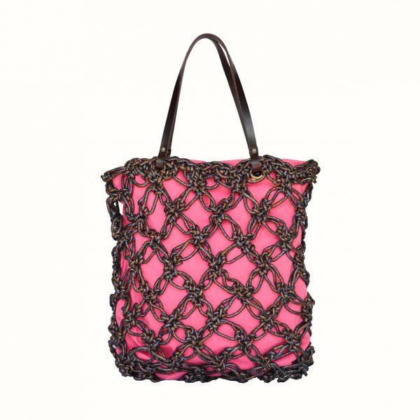 1_Shopping_in_Lurex_col_Multicolor _Crochet_handle_in_leather_col_Bordo_Gabriela_Vlad