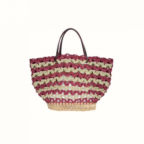 1_Small_basket_rafia_Crochet_with_handle_in_leather_Bordo_and_natural_RUSH_Gabriela_Vlad