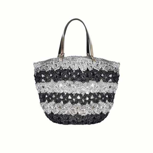 1_Small_shopping_in_rafia_Crochet_with_handle_in_leather_col_Black_Gabriela_Vlad