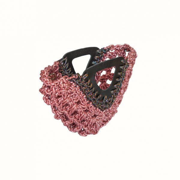 Small_bag_in_Lurex_thread_Crochet_with_leather